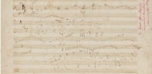 Un caiet inedit cu lucrări compuse de Beethoven, vândut cu 252.750 de euro
