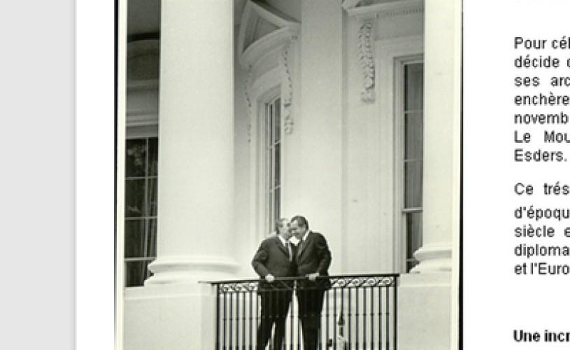 Arhivele fotografice ale ziarului International Herald Tribune, scoase la licitaţie