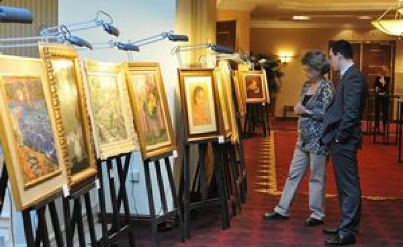 """Tabloul """"Femei în parc"""" de Ioan Andreescu, adjudecat la 130.000 de euro"""