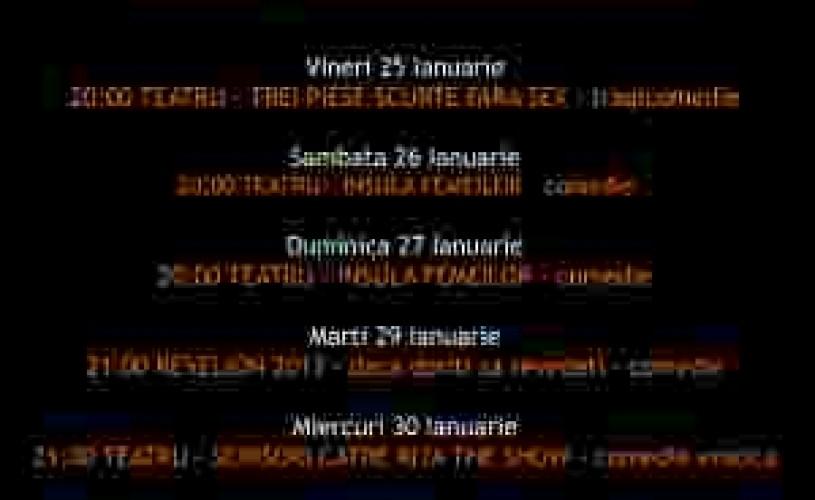 Programul In Culise 25-31 Ianuarie