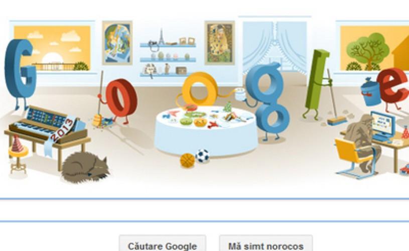 Noul logo Google – imaginea de dupa petrecerea de Revelion
