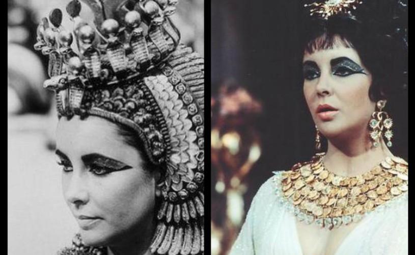 """VIDEO Bijuteriile şi un ornament pentru cap purtat de Liz Taylor în filmul """"Cleopatra"""" vor fi scoase la licitaţie"""