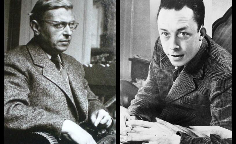 O scrisoare inedită expediată de Camus lui Sartre a fost descoperită în Franţa