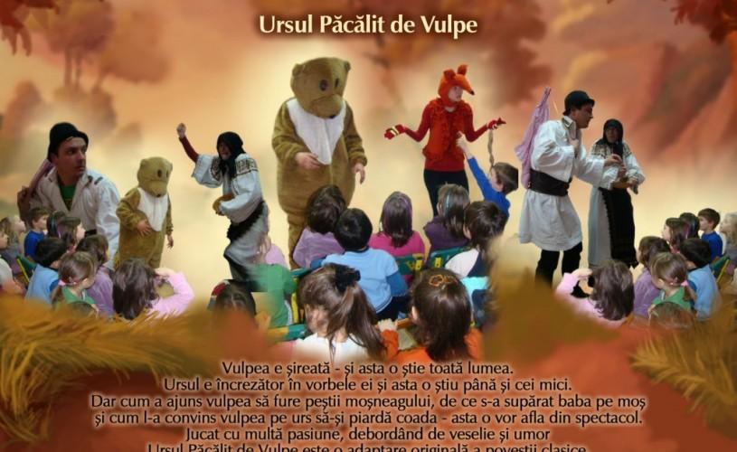 Ursul păcălit de vulpe – o poveste actuală, la Teatrul Zurli