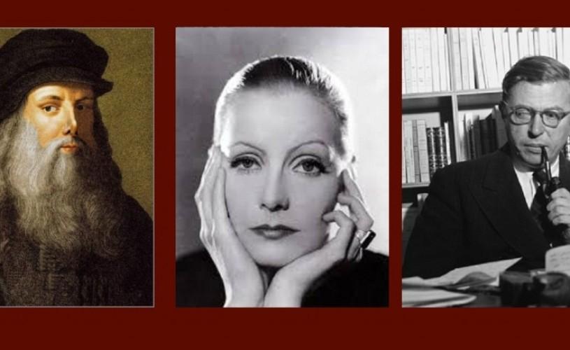 Leonardo da Vinci, Greta Garbo & Sartre – ŞTIAŢI CĂ…