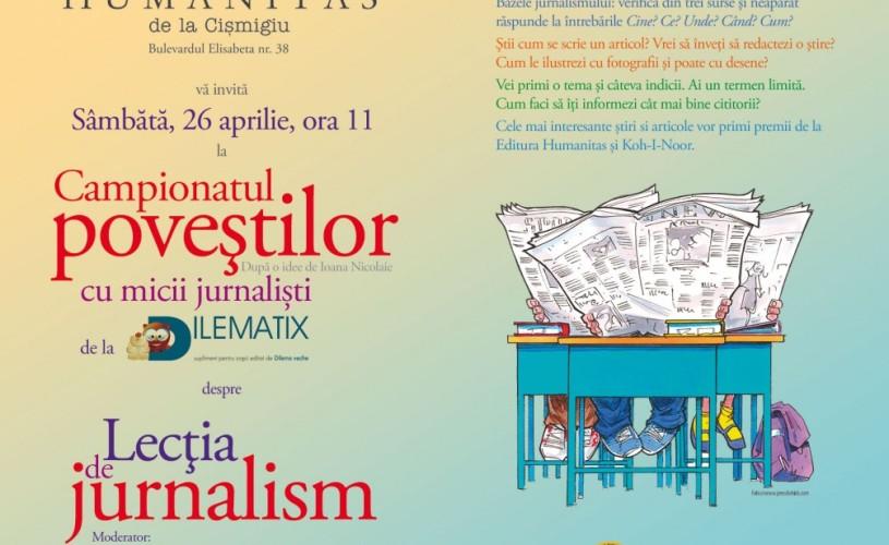 Campionatul Povestilor cu micii jurnalişti de la Dilematix