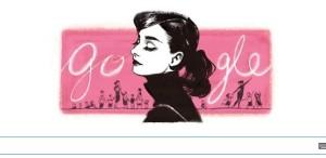Audrey Hepburn - noul logo al Google