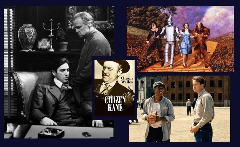 Cele mai bune filme din istoria Hollywood-ului. în fruntea topului, The Godfather/Naşul