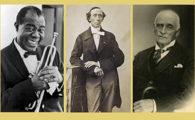 Louis Armstrong, Hans Christian Andersen & Knut Hamsun