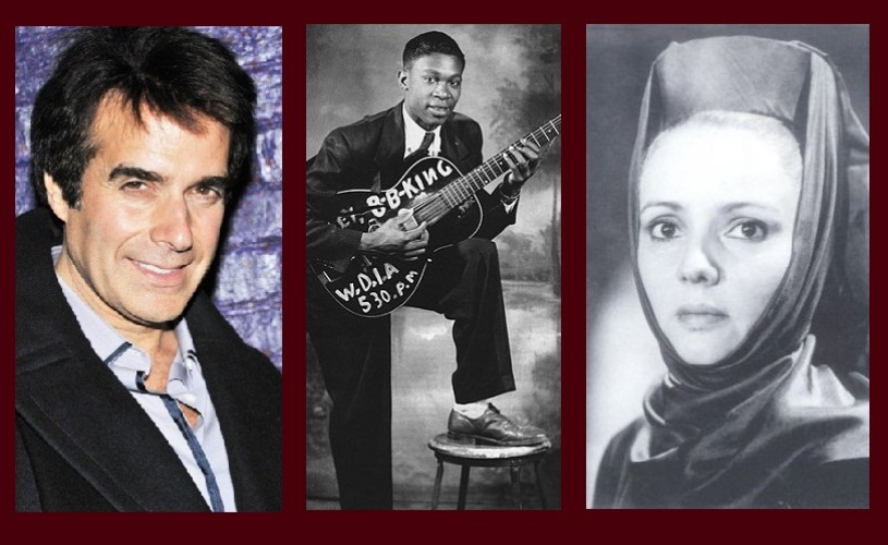 David Copperfield, B.B. King, Silvia Popovici – Ştiaţi că…?