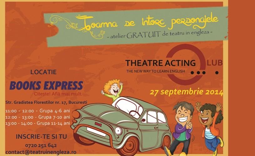 Atelier gratuit de teatru în limba engleză