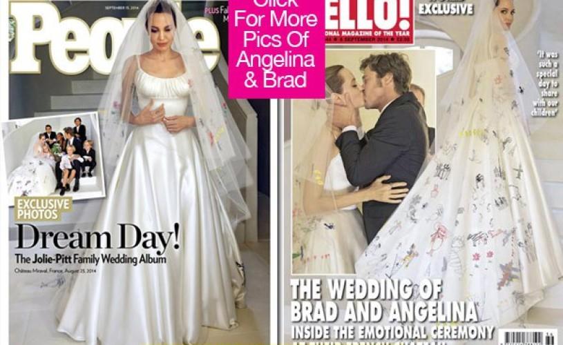 Angelina Jolie – primele fotografii în rochie de mireasă