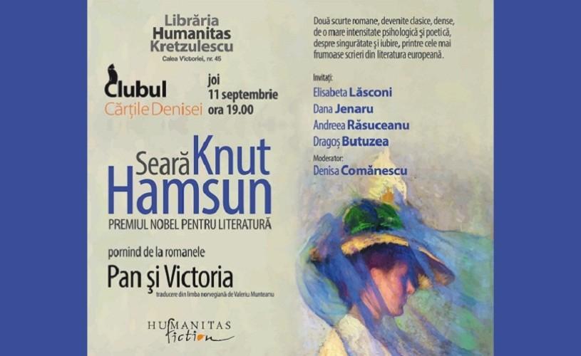 Seara Knut Hamsun, la Libraria Humanitas Kretzulescu