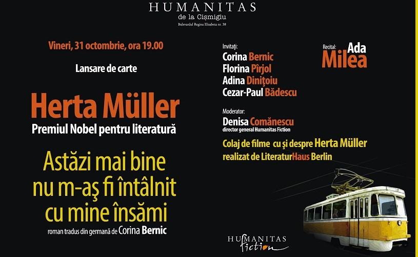 Herta Muller îşi lansează cel mai nou roman