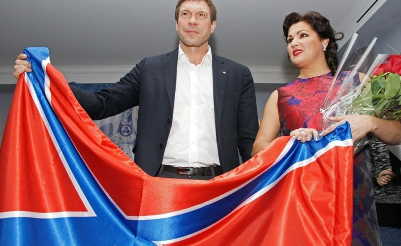 Anna Netrebko, pozată alături de steagul separatiştilor ucraineni