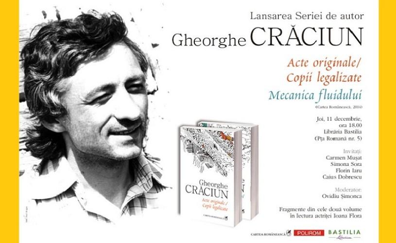 Gheorghe Craciun, seria de autor – lansare la Librăria Bastilia
