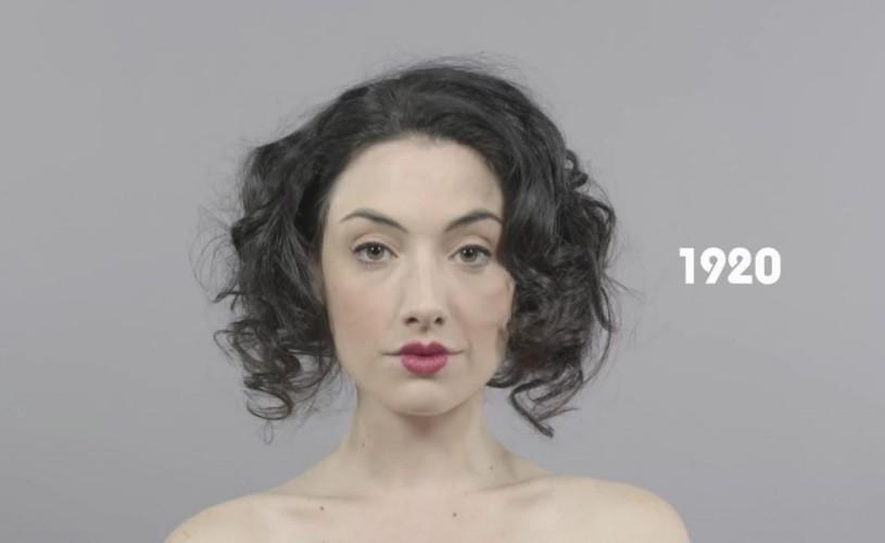 Istoria frumuseţii din 1910 până astăzi, în 60 de secunde