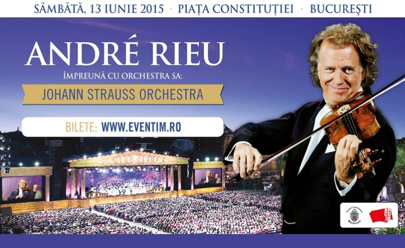 Andre Rieu, în premieră in România, în 2015