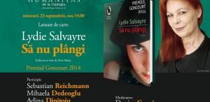 """Seară Goncourt, la Humanitas Cişmigiu - """"Să nu plângi"""" de Lydie Salvayre"""