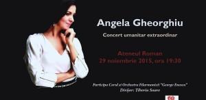 Angela Gheorghiu, concert extraordinar, în sprijinul victimelor de la Colectiv