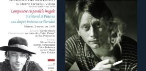 Marius Manole citește din literatura lui Gheorghe Crăciun la Cărturești Verona