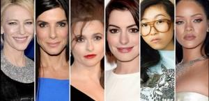 Cate Blanchett, Sandra Bullock, Rihanna, Anne Hathaway şi Helena Bonham Carter, în