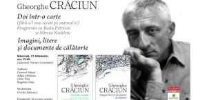 Eveniment dedicat Seriei de autor Gheorghe Crăciun, la Cărturești Verona