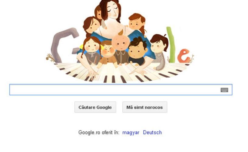 Google şi-a schimbat logo-ul pentru a o omagia pe Clara Schumann