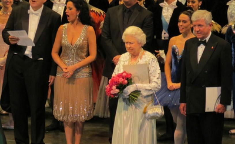Soprana Angela Gheorghiu a cântat pentru regina Elizabeth a II-a la Opera Regală din Londra