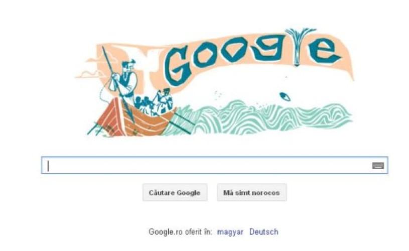 """GOOGLE sărbătoreşte 161 de ani de la apariţia romanului """"MOBY DICK"""", scris de Herman Melville"""