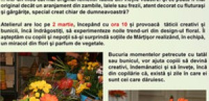 Atelier de creaţie florală la muzeul Antipa
