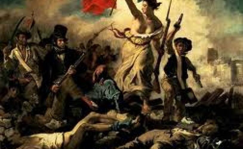 """Celebrul tablou al lui Delacroix """"Libertatea conducând poporul"""", vandalizat de o vizitatoare"""