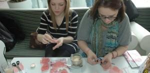Atelier de flori textile la Caffé D`Arthé