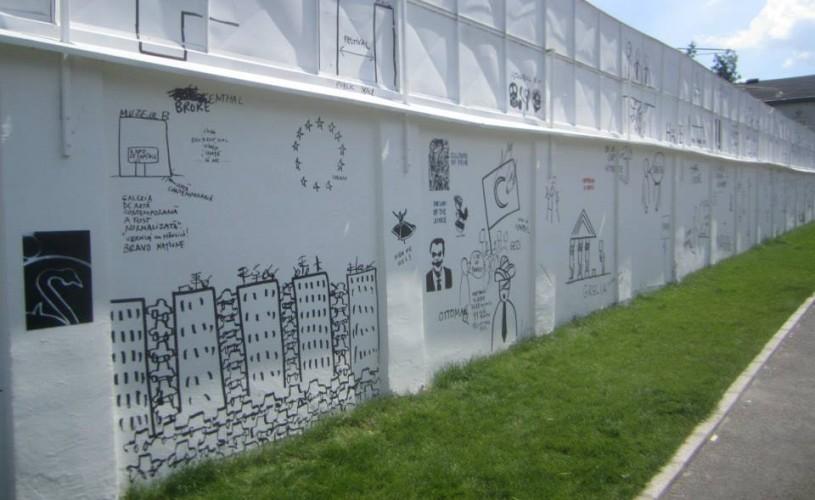 """Dan Perjovschi: """"Ce le rămâne activiştilor? Acest zid"""""""