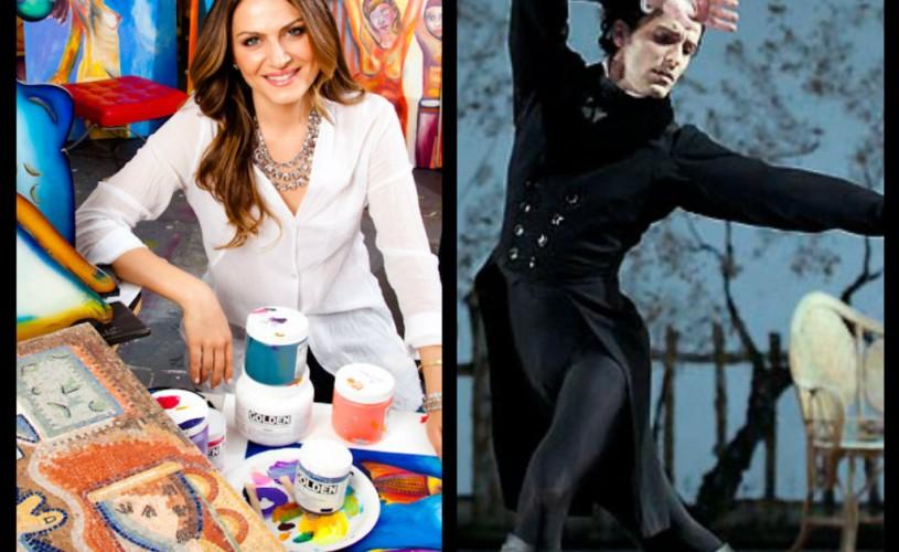 Pictoriţa Alexandra Nechita şi balerinul Dragoş Mihalcea, despre pasiune şi perfecţiune în artă