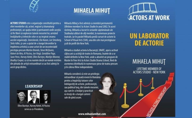 Atelier de Actorie cu Mihaela Mihuţ