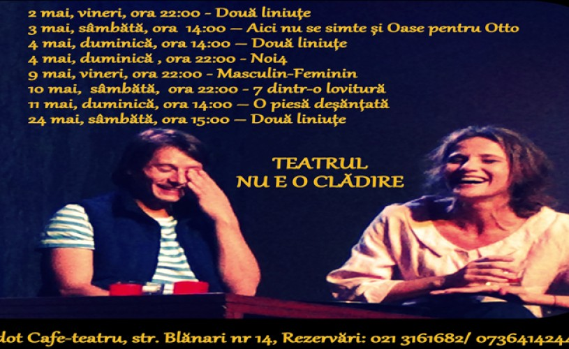 Teatrul nu e o clădire, ci un text scris de Lia Bugnar și rostit de Marius Manole