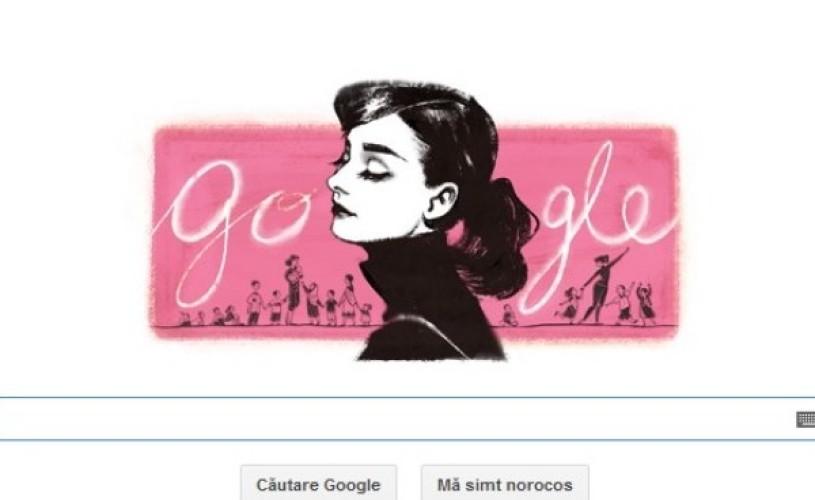 Audrey Hepburn – noul logo al Google