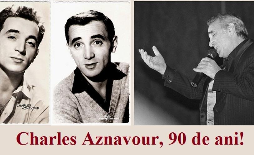 Charles Aznavour a sărbătorit împlinirea vârstei de 90 de ani pe scenă