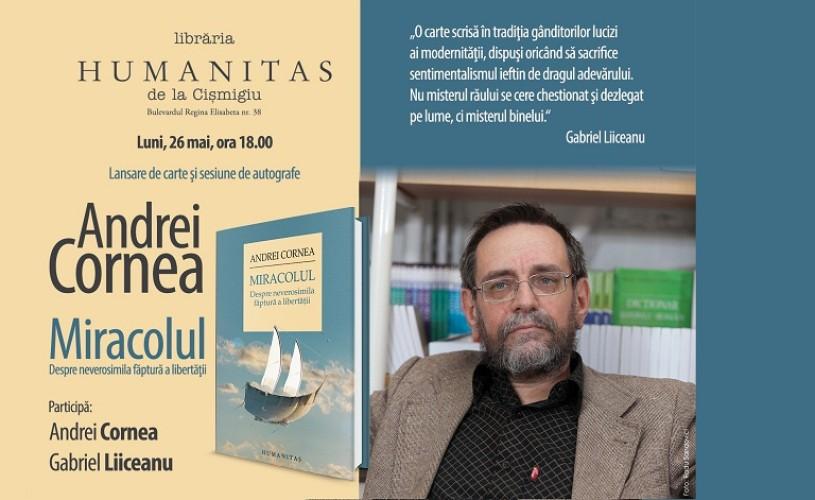 Andrei Cornea şi Gabriel Liiceanu la Librăria Humanitas de la Cişmigiu