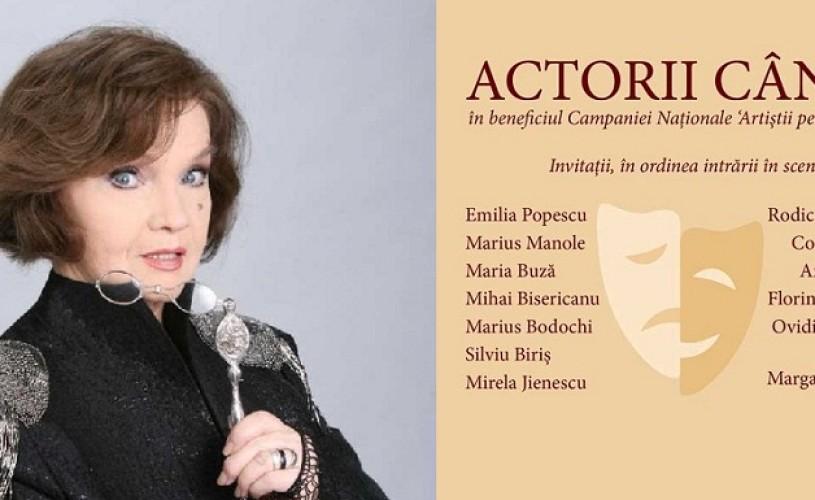 """Margareta Paslaru, lansare CD de autor – """"Actorii cântă"""""""