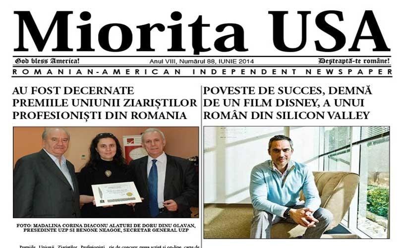Carte românească prezentă în mass-media americane