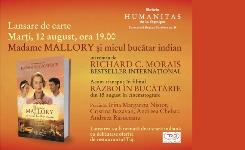 Madame Mallory şi micul bucătar indian, la Humanitas Cismigiu