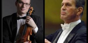Dirijorul Cristian Mandeal şi violonistul Alexandru Tomescu, în Festivalul RadiRo
