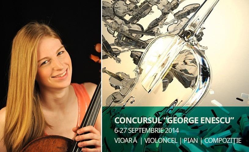 Sarah Rommel, Tony Rymmer şi Hong Eun Sun, în finala de Violoncel a Concursului Enescu 2014
