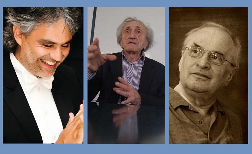 Andrea Bocelli, Dinu Cocea, Augustin Buzura. 22 septembrie