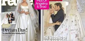 Angelina Jolie - primele fotografii în rochie de mireasă