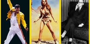 Freddie Mercury, Raquel Welch, Dmitri Șostacovici...