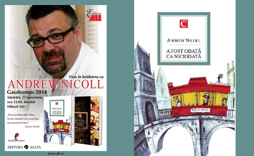 """Andrew Nicoll: """"Vreau să trăiesc într-o lume în care romanele sunt ca un dans, nu ca un meci de box."""""""