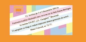 AUDIȚIE NAȚIONALĂ 2014 - Etapa finală